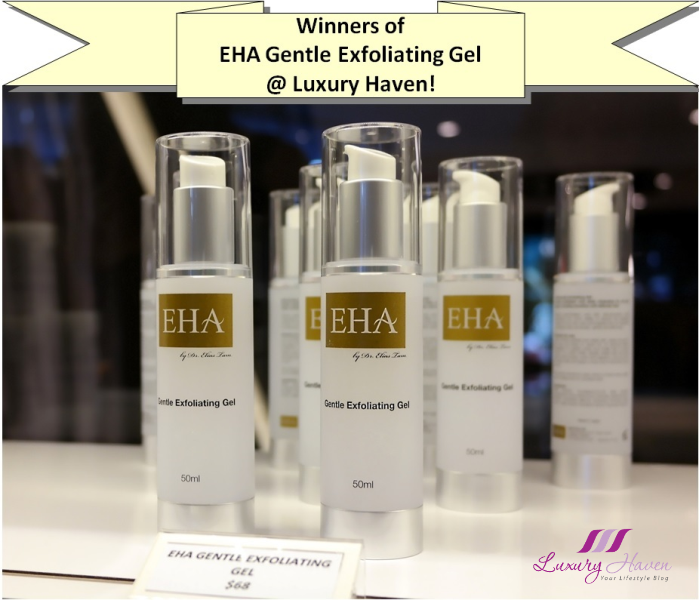 eha gentle exfoliating gel giveaway winners