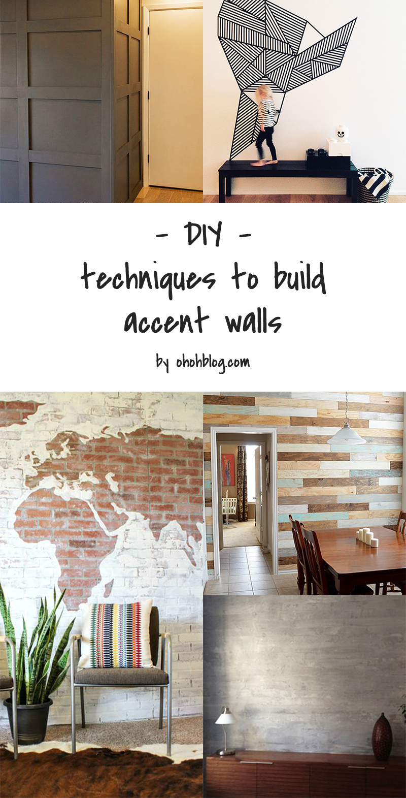 5 DIY to try # How to build accent wall