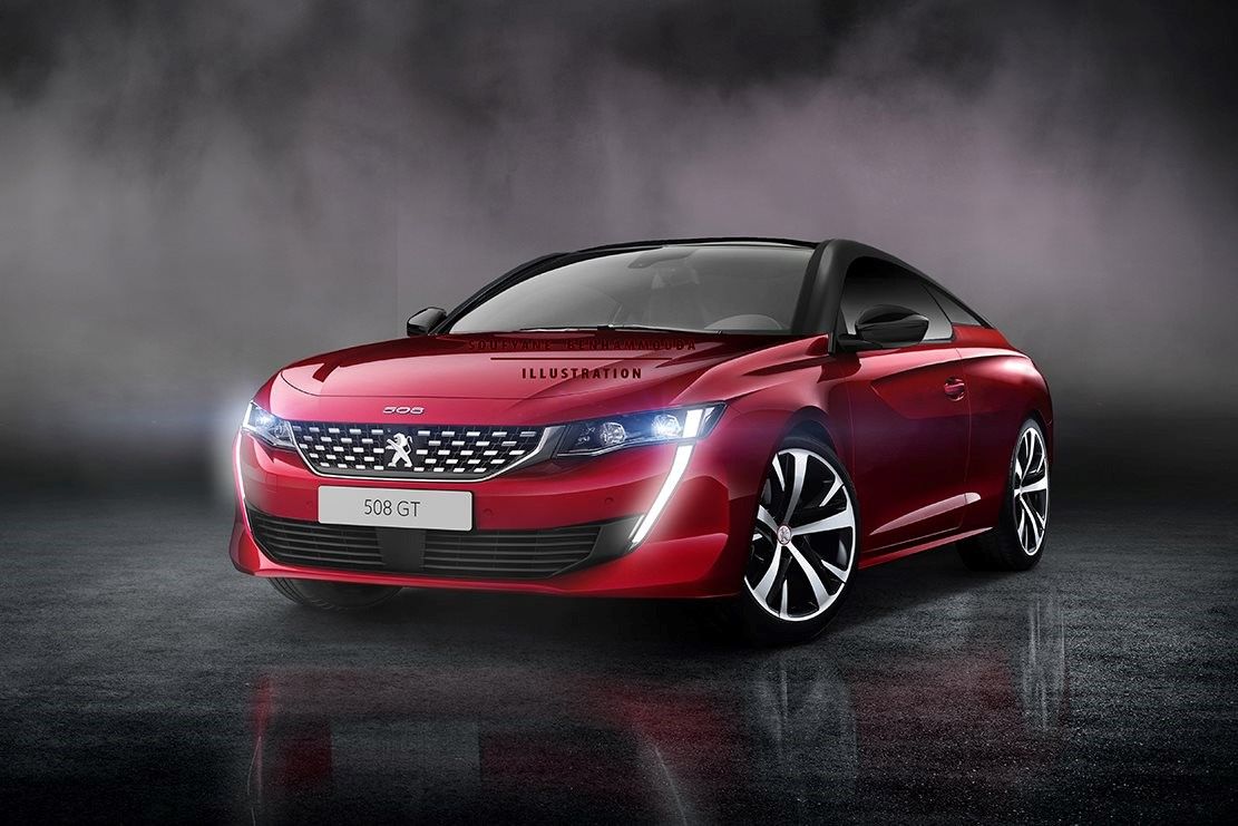 new peugeot 508 coupe render ms blog. Black Bedroom Furniture Sets. Home Design Ideas