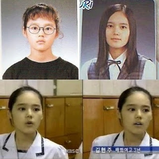 foto pre debut masa kecil han ga in