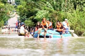Gambar 1a. Kejadian Banjir di Kabupaten Bandung