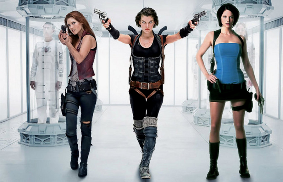 Claire Redfield, Alice şi Jill Valentine în Resident Evil: Afterlife 2010