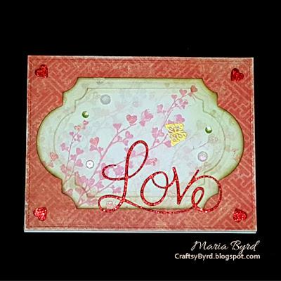 Penny Black Butterfly Love Card by Maria Byrd | CraftsyByrd.blogspot.com