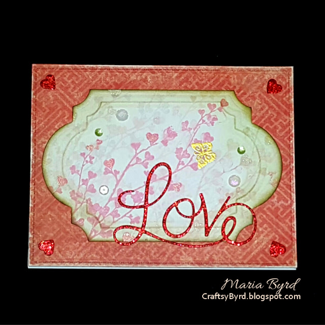 Penny Black Butterfly Love Card by Maria Byrd | CraftsyByrd.blogspot.com