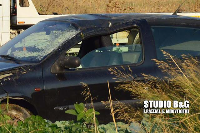 Εκτροπή και ανατροπή αυτοκινήτου στο Άργος