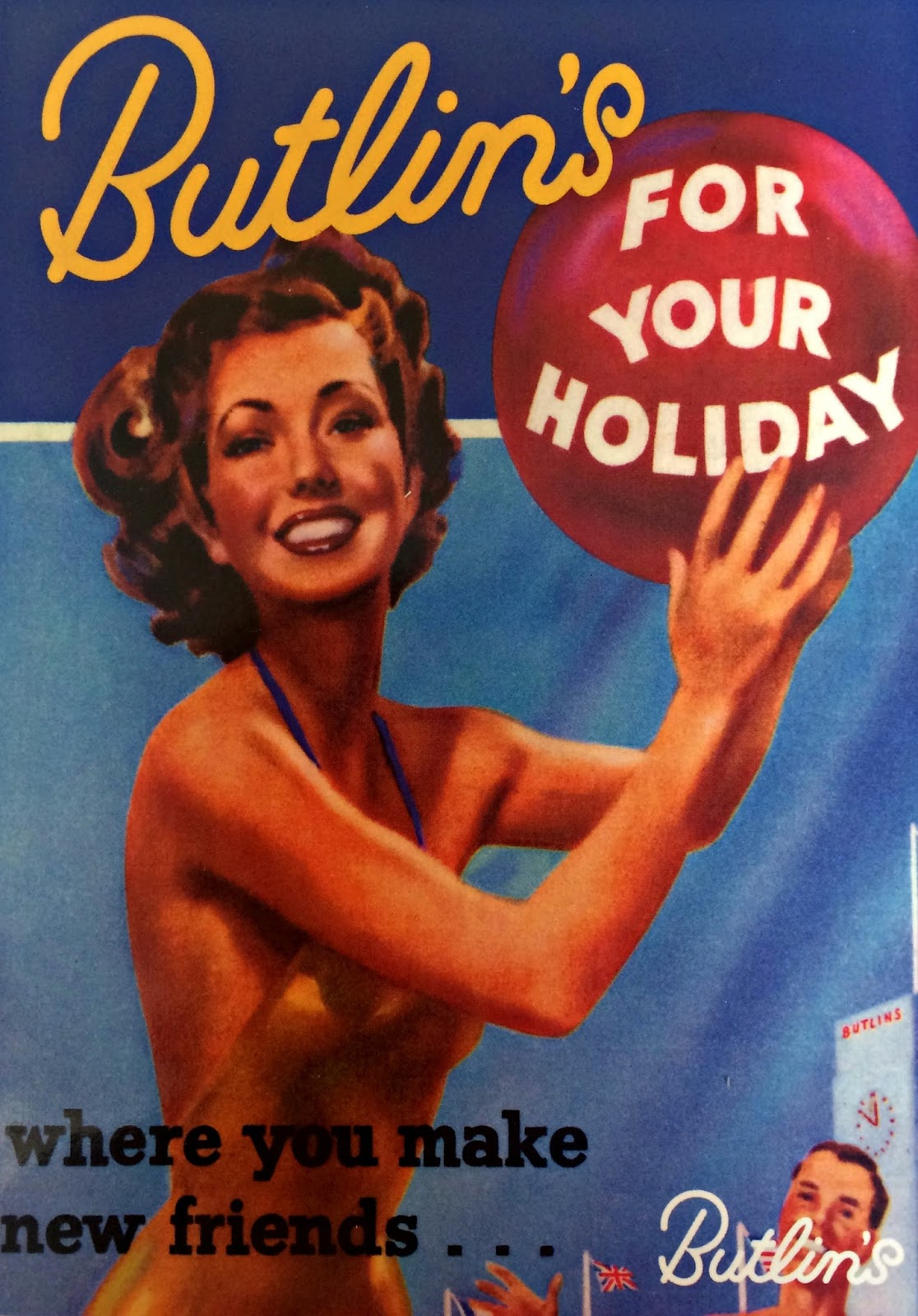 retro Butlins postcard