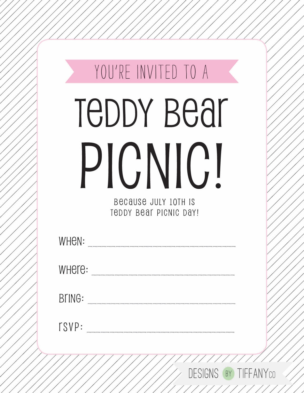 July 10th is Teddy Bear Picnic Day! + Free printables