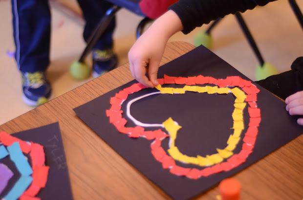 February Kindergarten Art Projects