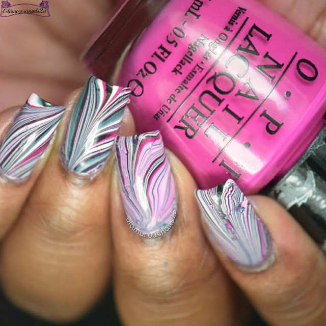 Watermarble Wednesdays: Black, White & Pink