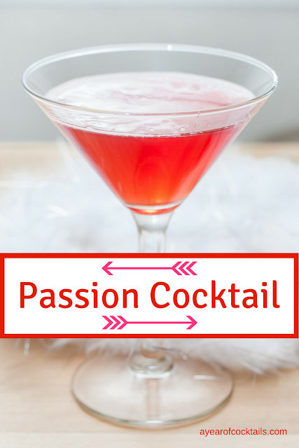 Passion Cocktail is a Valentine's Day tequila cocktail packed with a great flavor.