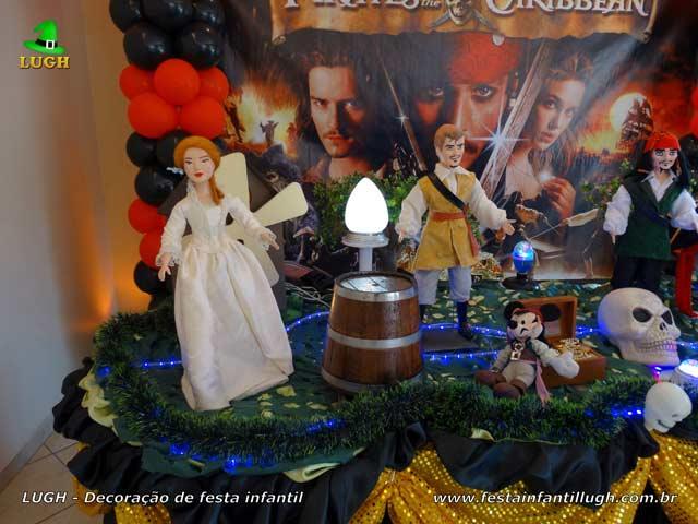 Decoração festa de aniversário infantil tema Piratas do Caribe