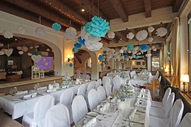 Seehaus Sommerliche Vintage-Hochzeit in Himmelblau und Weiß im Riessersee Hotel Garmisch-Partenkirchen - blue white vintage wedding in Bavaria - #Riessersee #Garmisch #Hochzeitshotel #Bayern #wedding venue #Bavaria #Vintage #Himmelblau