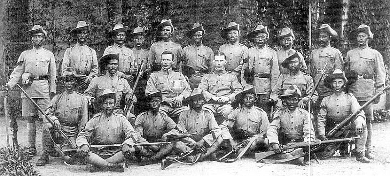 A pre-war 10th Gurkha Rifles shooting team in 1920