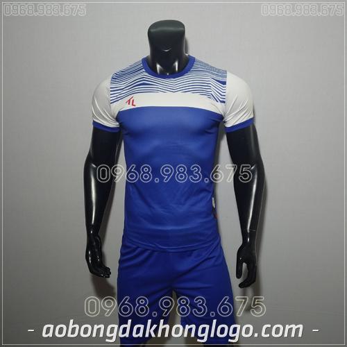 Áo bóng đá không logo TL Riyad màu tím xanh đậm