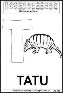 Alfabeto cartaz letra T