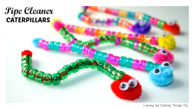Fine Motor Caterpillar Craft - Learning and Exploring Through Play