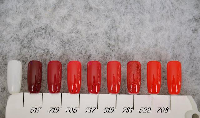 RED POWER - moc koloru | Lakiery hybrydowe Makear | OSIEM ODCIENI CZERWIENI