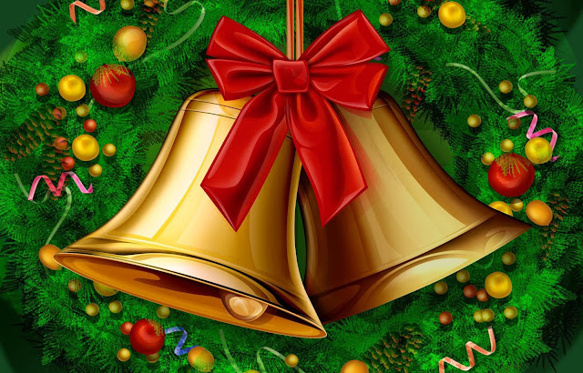 merry christmas bells awesome wallpaper hd