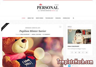 personal clean blogger template