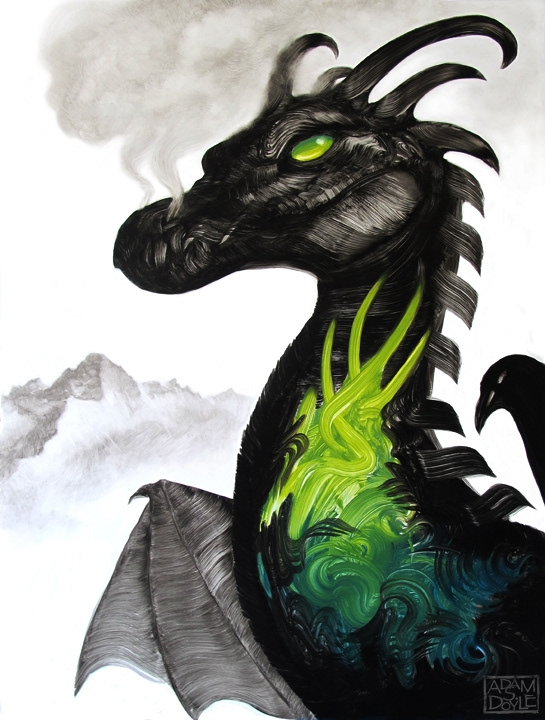 02-Dragon-Shoganai-Adam-S-Doyle-Animal-Fantasy-Paintings-out-of-this-World-www-designstack-co