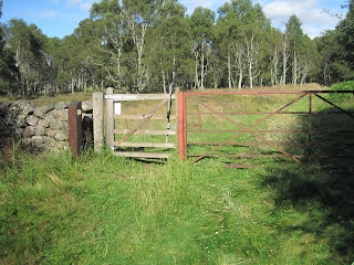 The iron gate on Loch Kinord nature reserve