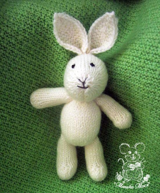 игрушка для фотосессии, белый заяц, белый зайка