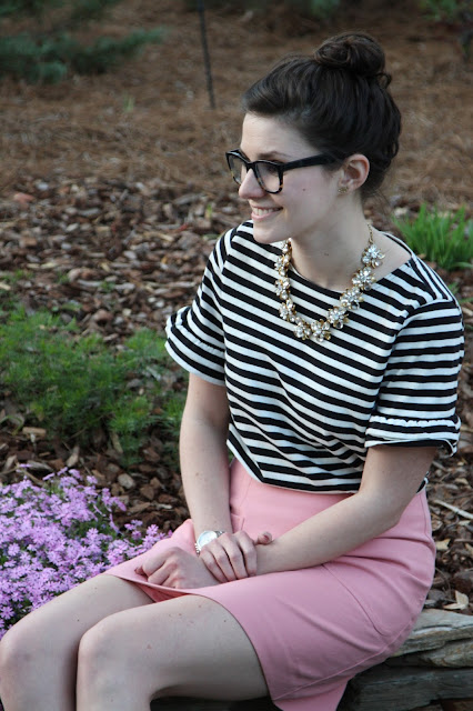 2017, OOTD, spring, stripes, ruffles, cheetah, pink, patterns,