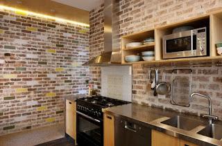 Contoh Gambar Wallpaper Dinding Rumah Minimalis untuk Dapur