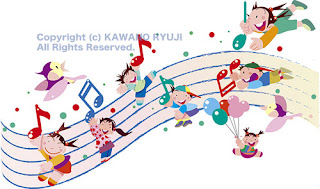 音楽イラスト、子供の音楽いイラスト、演奏会、音楽ポスターイラスト、イラストレーター検索、イラストレータ一覧