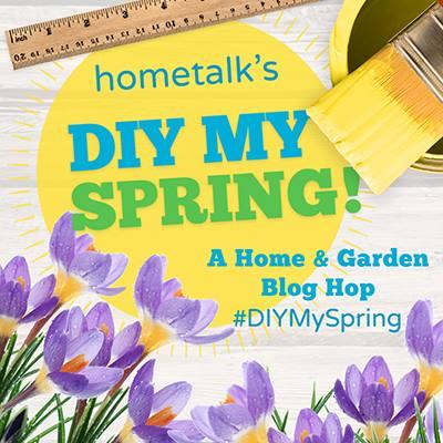 Tart Tin and Herb Flower Garden Mantel mythriftstoreaddiction.blogspot.com Hometalk DIY My Spring