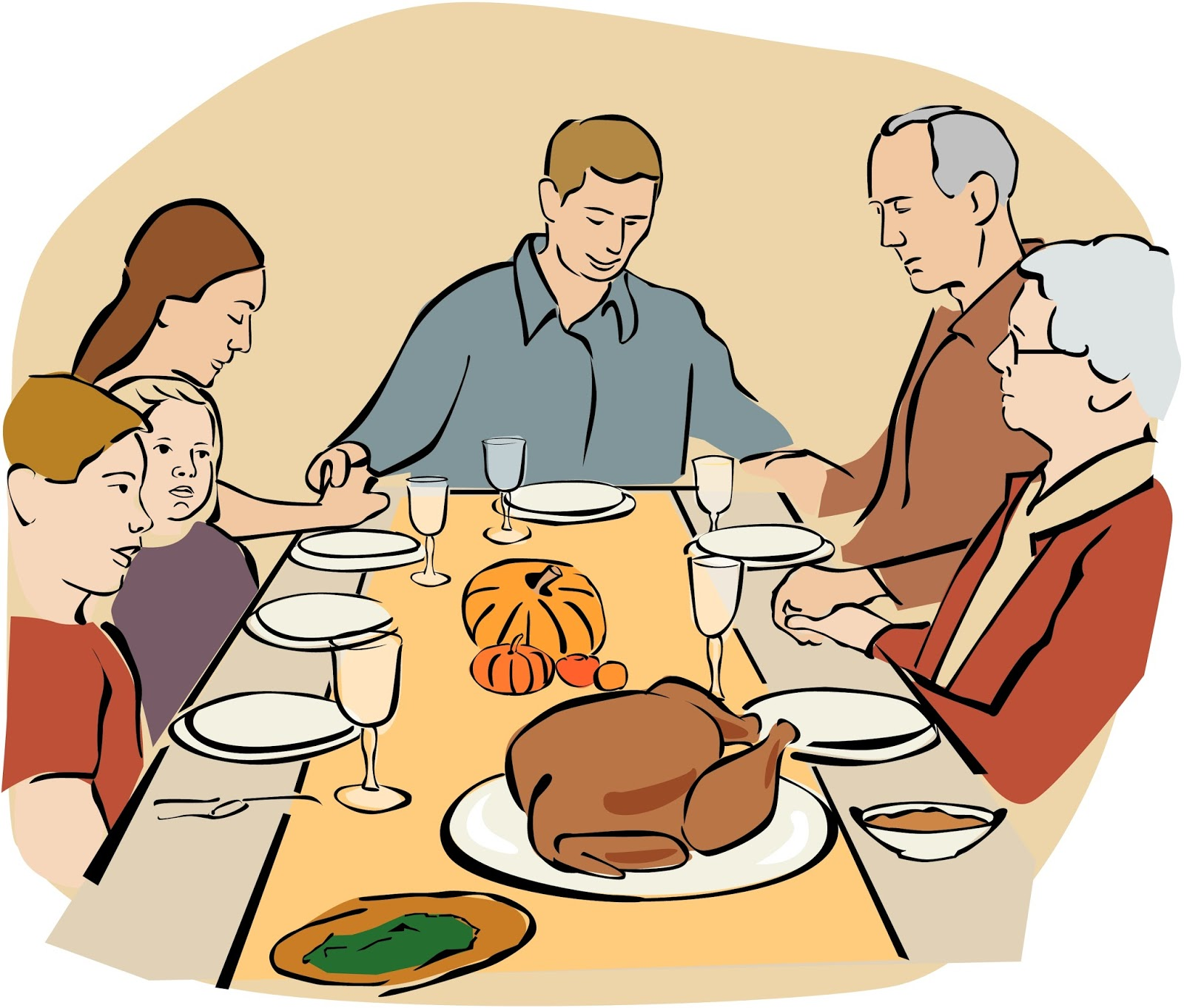 clipart thanksgiving table - photo #46