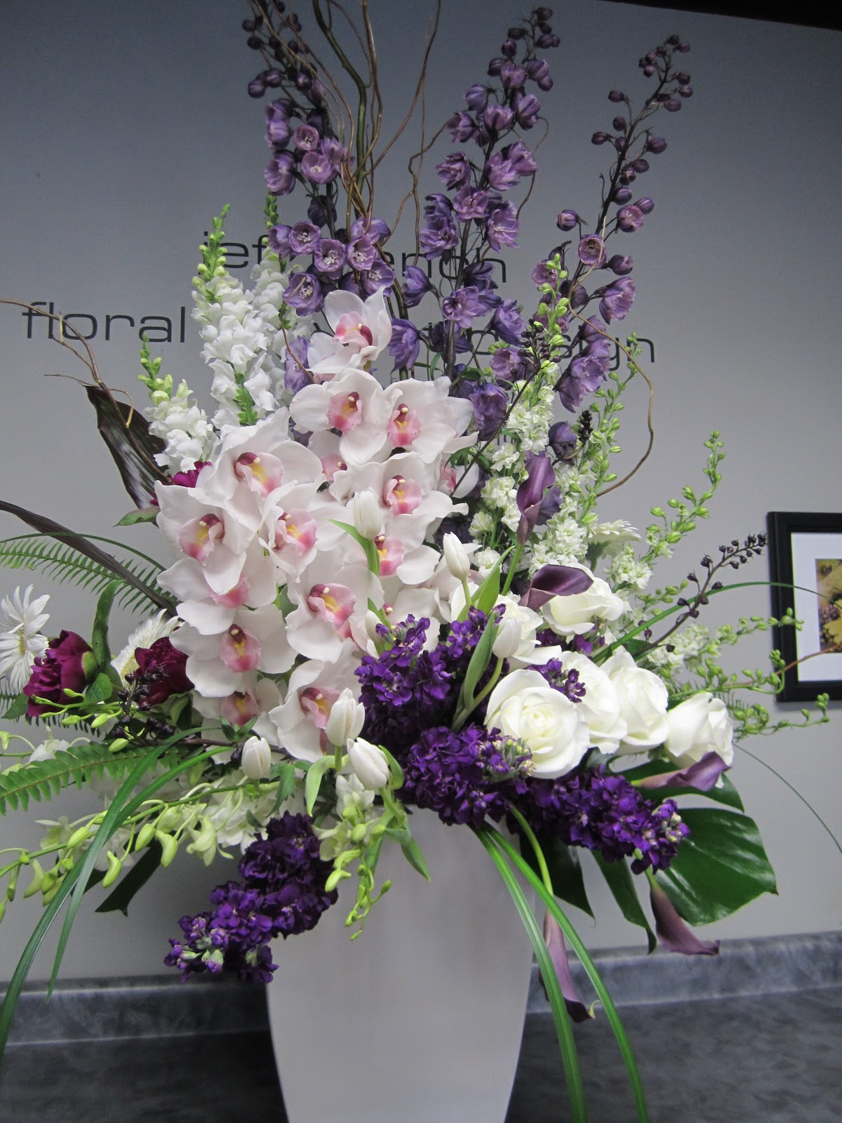 Funeral Flowers. cream and purple funeral flowers, coffin ...  |Casket Flowers