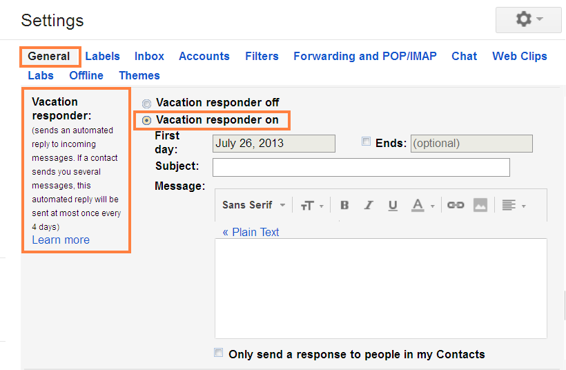 How To Send Automated Reply in GMAIL img 3?