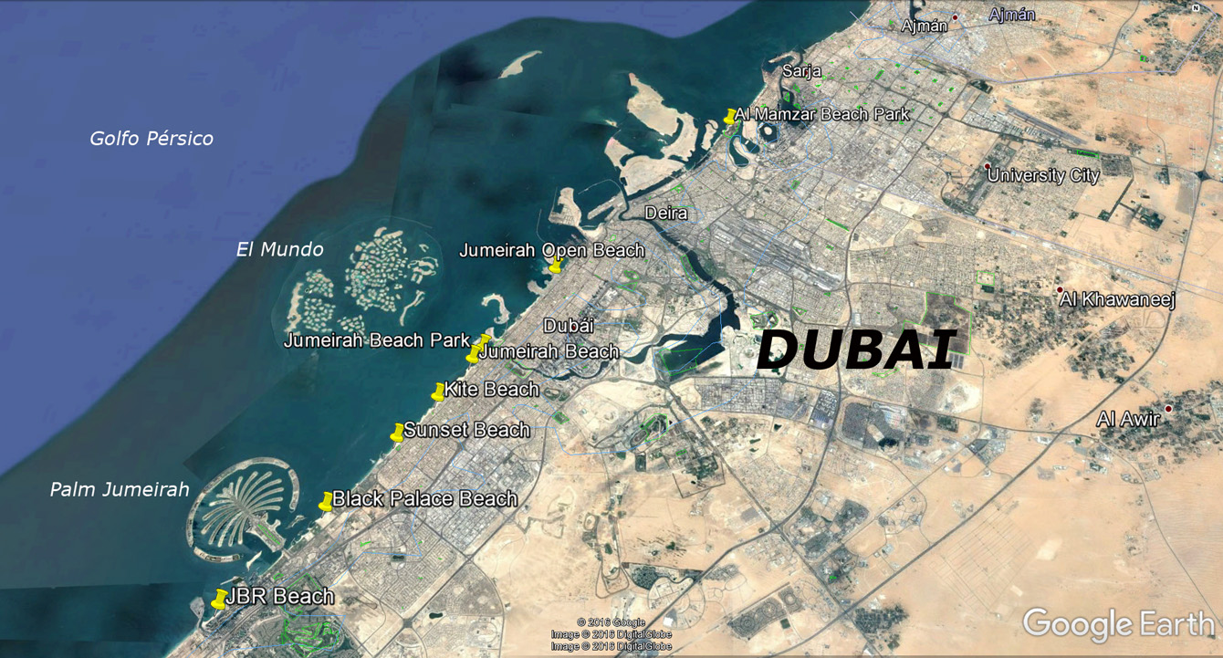 Las playas recomendadas de Dubai