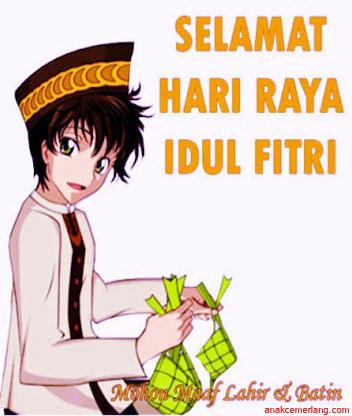 Gambar Kartun Lucu Ucapan Hari Raya Idul Fitri Nusagates