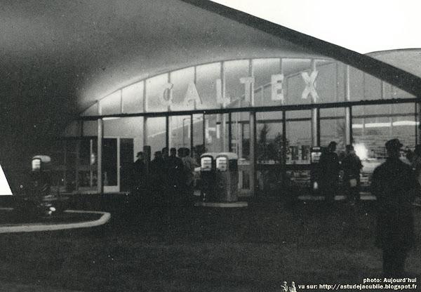 Boulogne-sur-Mer - Station-service Caltex  Architecte: Pierre André Dufetel  Ingénieur: René Sarger  Projet / Construction: 1958-1960  Détruite.