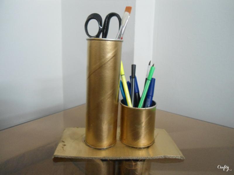 Crafty DIY Pringles Can Organizer