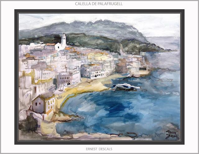 CALELLA DE PALAFRUGELL-PINTURA-PAISATGES-EMPORDÀ-GIRONA-CATALUNYA-CUADROS-ACUARELAS-ARTISTA-PINTOR-ERNEST DESCALS-
