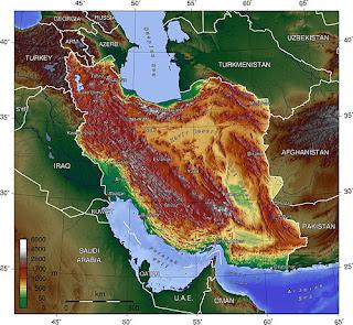 Mapa Iran