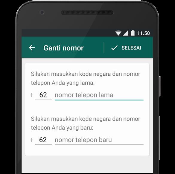 Mengganti Nomor Hp Whatsapp (Wa) Secara Kondusif Tanpa Menghapus Data