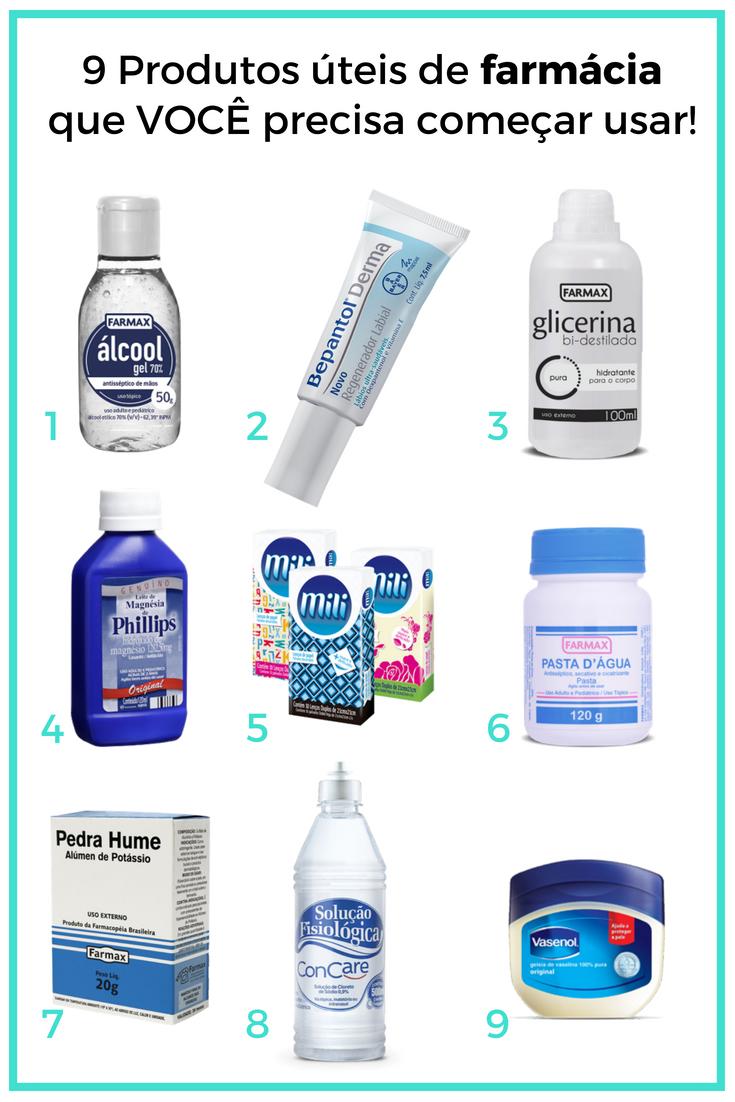 Produtos úteis de farmácia