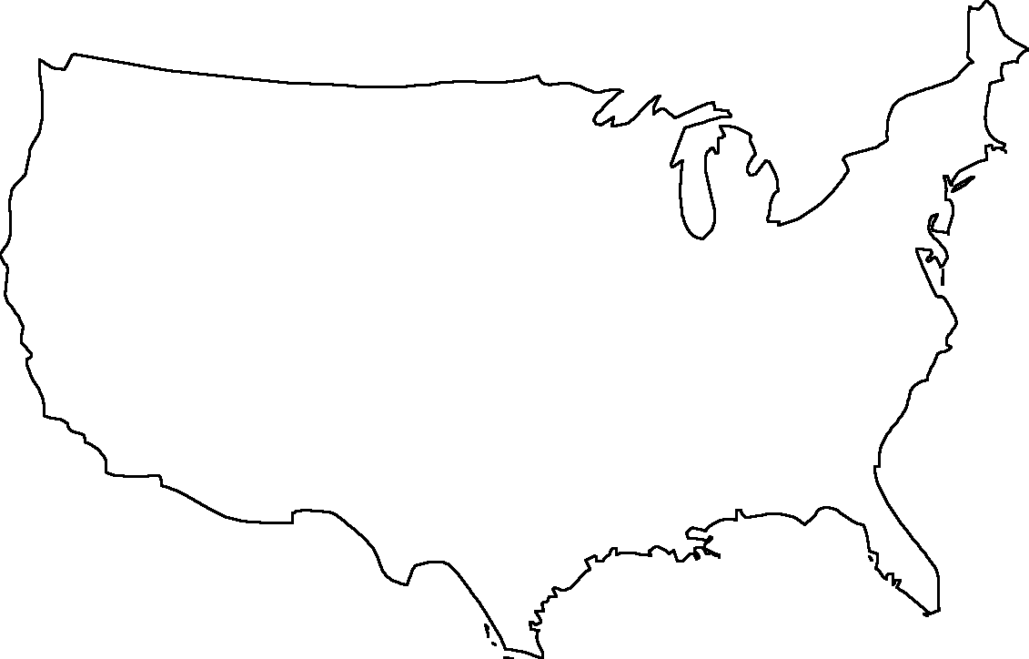 blank map continental united states
