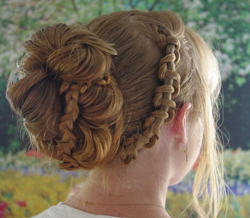braids  hairstyles for super long hair chain braid updo