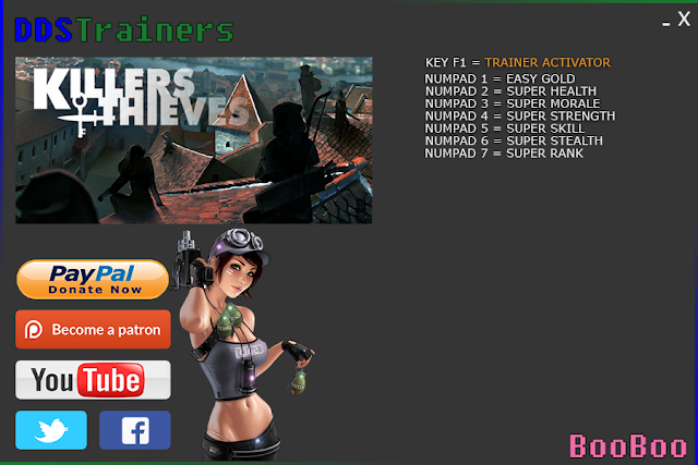 Killers And Thieves Trainer Cheat +7