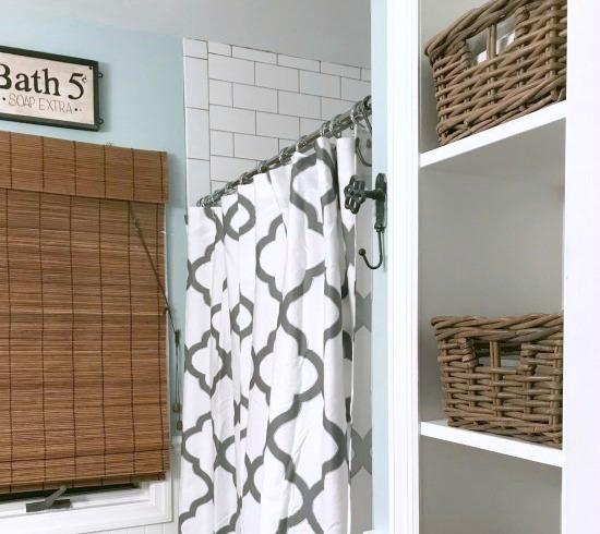Vintage Storage Solution for the Master Bathroom