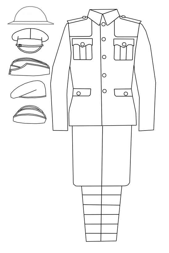 PanzerKaput's Painted Review: Service Dress Uniform Outline