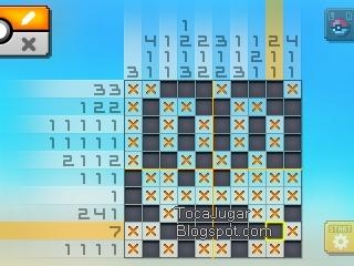 Toca jugar pok mon picross soluciones zona 02 for Mural 1 pokemon picross