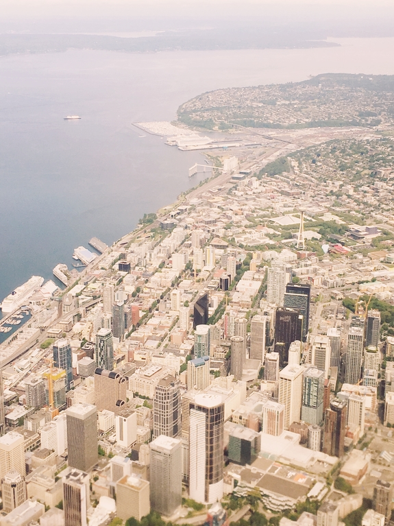 Things to do in Seattle - view of city from air