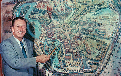 Walt Disney and Disneyland Map