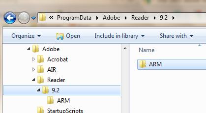 Adobe Acrobat Reader update error: Error 1602